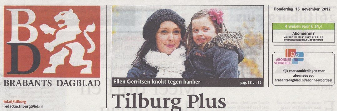 2012-11-15 | Nominatie Ellen| Brabants Dagblad