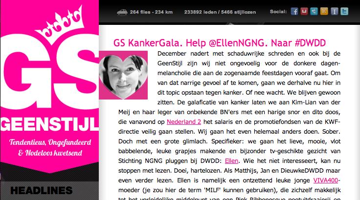 2012-11-28 | Help @EllenNGNG Naar #DWDD | GEENSTIJL