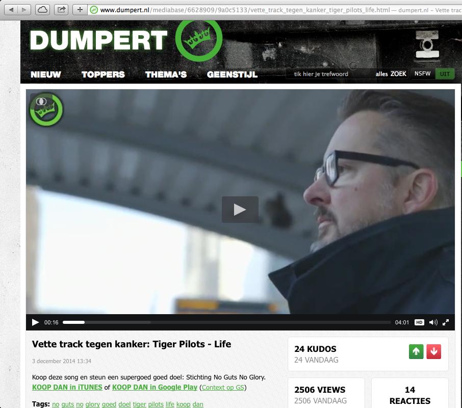 2014-12-03   Vette track tegen kanker – Tiger Pilots – Life  dumpert.nl