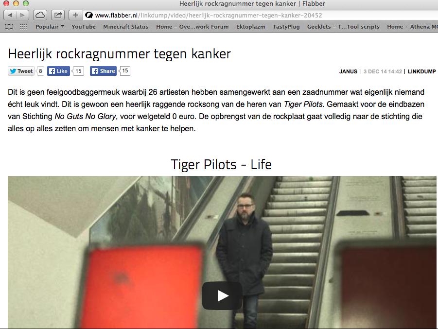 2014-12-03 | Heerlijk rockragnummer tegen kanker| flabber.nl