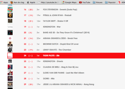 2014-12-04 |Life-Tiger Pilots aan te vragen in iTunes week top 30 |Q-music