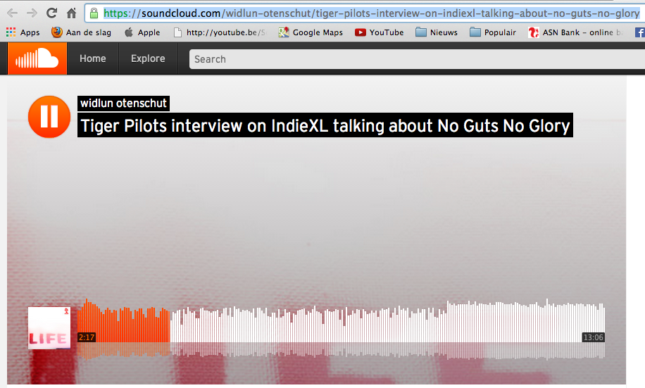 2014-12-09 |Interview Ludwin Schouten – Tiger Pilots over No Music No Glory |IndieXL